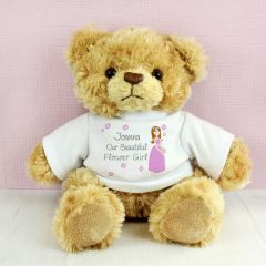 Personalised Our Fabulous Flower Girl Message Bear