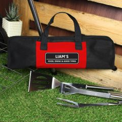 Personalised Classic Design Stainless Steel BBQ Kit