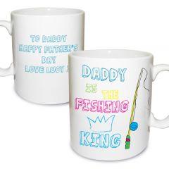 Personalised Fishing King Mug