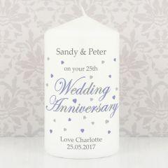 Personalised Anniversary Candle Keepsake