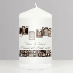 Personalised Affection Art Design Mr & Mrs Candle