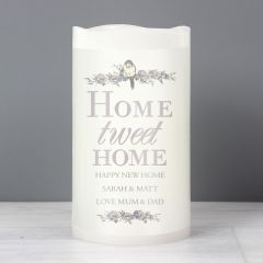 Personalised Home Tweet Home LED Flickering Candle