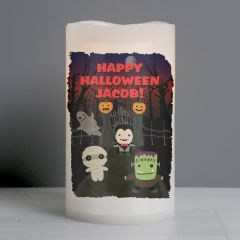 Personalised Halloween LED Flickering Candle