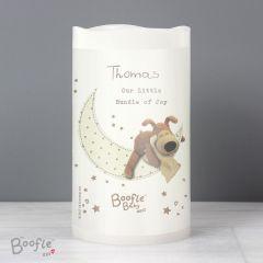 Personalised Boofle Bear Baby Nightlight LED Candle