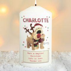 Personalised Boofle Bear Christmas Reindeer Candle
