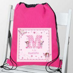 Personalised Fairy Letter Design Swim & Kit Bag
