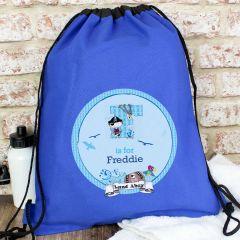 Personalised Pirate Drawstring Bag