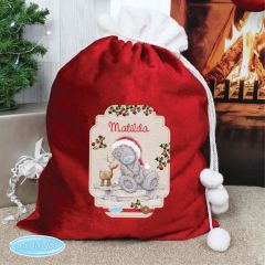 Me To You Personalised Reindeer Luxury Pom Pom Sack