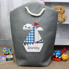 Personalised Sailboat Tidy Bag