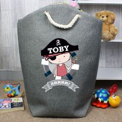 Personalised Pirate Tidy Bag