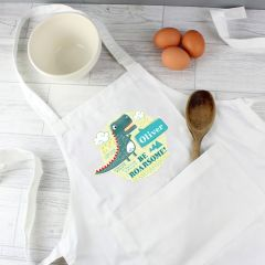 Personalised Dinosaur Design Children's Apron