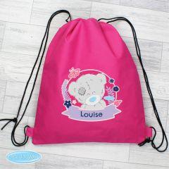 Personalised Me To You Pink Drawstring Bag