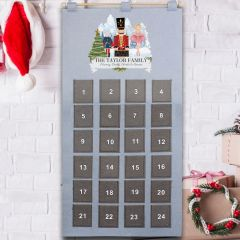 Personalised Nutcracker Felt Advent Calendar