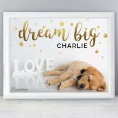 Personalised Dream Big White Framed Print by Rachael Hale