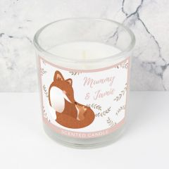 Personalised Mummy and Me Fox Scented Candle in Jar