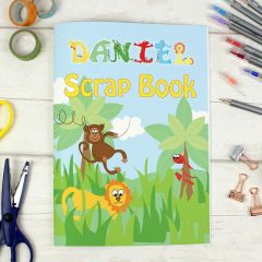 Personalised Animals Theme A4 Scrapbook