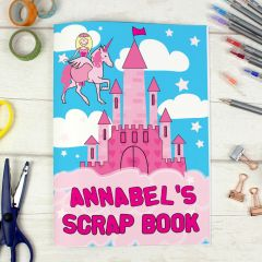 Personalised Princess & Unicorn Theme A4 Scrapbook