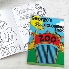 Personalised Zoo Design Colouring Book