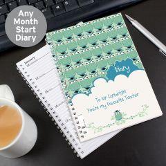 Personalised Mr Owl Teacher Diary