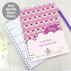 Personalised Miss Owl Teacher Diary