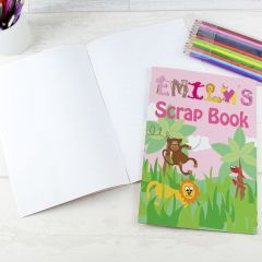 Personalised Girls Animal Alphabet Letter Scrap Book