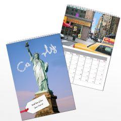 Personalised New York Wall Calendar A4