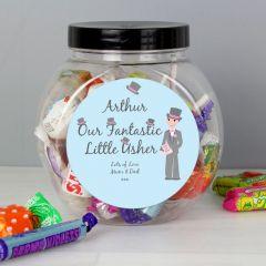 Personalised Fabulous Pageboy Sweet Jar Gift
