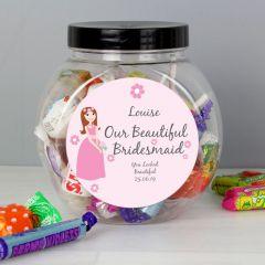 Personalised Fabulous Bridesmaid Sweet Jar Gift