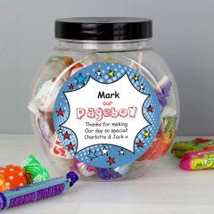 Personalised Comic Pageboy Sweet Jar Gift
