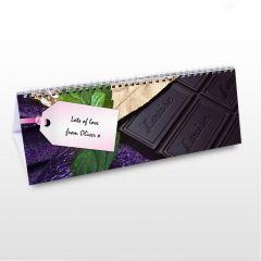 Personalised Milk Chocolate Design Desk Calendar