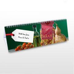 Personalised Food Design Desk Calendar