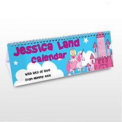 Personalised Princess & Unicorn Design Desk Calendar