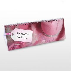 Personalised Girls Pink Design Desk Calendar