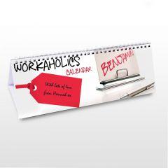 Personalised Workaholic Design Desk Calendar