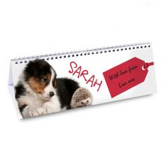 Personalised Cute Animals Design Desk Calendar