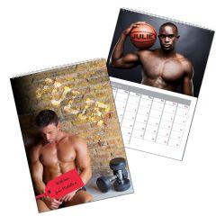 Personalised Hot Hunks Wall Calendar A4