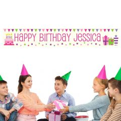 Personalised Female Presents Banner