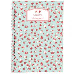 Personalised Vintage Floral Notebook