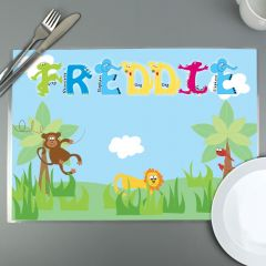 Personalised Animal Alphabet Letter Placemat