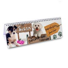 Personalised Your Barking Mad Design Desk Calendar