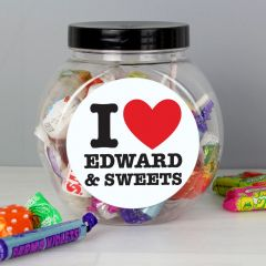 Personalised I HEART Sweet Jar Gift