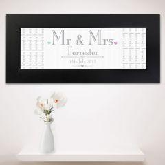 Personalised Wedding Design Mr & Mrs Black Name Frame