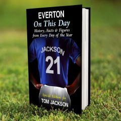 Personalised Everton Events On This Day Book