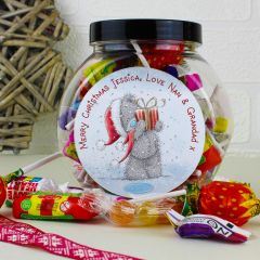 Personalised Me To You Christmas Sweet Jar Gift
