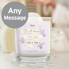 Personalised Garden Bloom Scented Candle in Jar