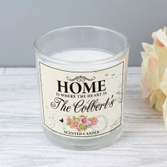 Personalised Shabby Chic Scented Candle in Jar