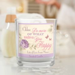 Personalised Secret Garden Scented Candle in Jar