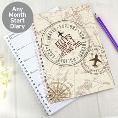 Personalised Travel Stamp Diary