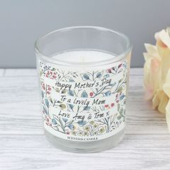 Personalised Botanical Scented Candle in Jar