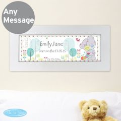 Personalised Tiny Tatty Teddy Bear Cuddle Bug Name Frame